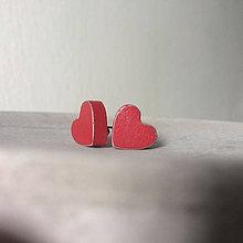 Náušnice - Betónky Hearts red 02 (srdce) - 8462484_