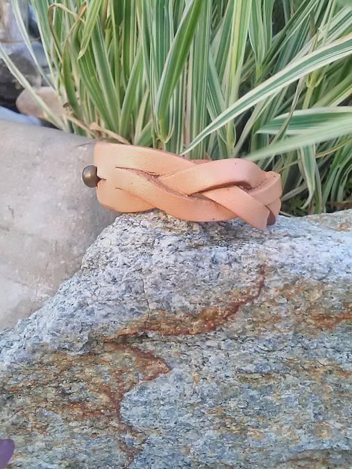 Kožený náramok pletený široký 2cm