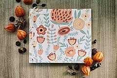 Fotoalbum, klasický, polyetylénový potlačený obal s potlačou oranžových kvetín