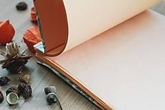 Papiernictvo - Fotoalbum, klasický, polyetylénový potlačený obal s potlačou oranžových kvetín - 8463332_