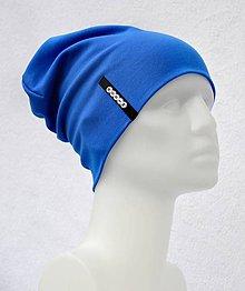 Detské čiapky - Čiapka Elastic modrá/Paríž s menom - 8461789_