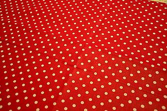 Na tablet - Obal na čítačku alebo tablet - #23 látka bodky na červenom - 8462711_