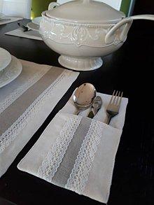 Úžitkový textil - Puzdro na príbor Vanilla Dream Ivoire Lin - 8463259_