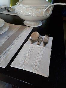 Úžitkový textil - Puzdro na príbor Vanilla Dream Ivoire - 8463283_