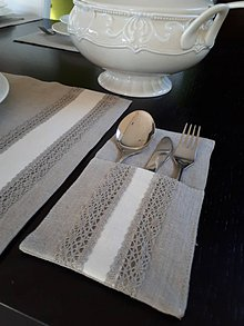Úžitkový textil - Puzdro na príbor Vanilla Dream Lin - 8463293_