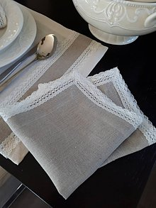 Úžitkový textil - Ľanový obrúsok Vanilla Dream Lin - 8463309_