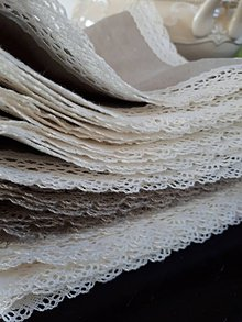 Úžitkový textil - Ľanový obrúsok Vanilla Dream - 8463347_