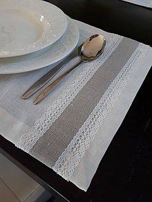 Úžitkový textil - Ľanové prestieranie Vanilla Dream - 8463358_