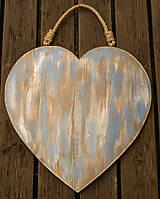 Dekorácie - Drevené srdce veľké - 8463083_