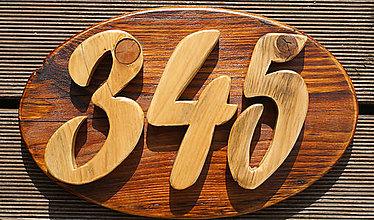 Tabuľky - číslo domu - ovál - 8462850_