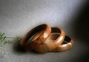 Náramky - drevený náramok- sada 3 kusy - 8464520_