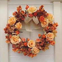 Dekorácie - Jesenný veniec - 8465721_