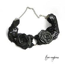 Náhrdelníky - Obojok s ružami - 8467432_