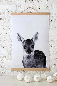 Grafika - -50% Print na plátne LAMB A2 Č/B verzia - 8466427_