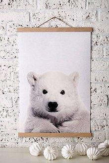 Grafika - Print na plátne POLAR BEAR  A2 farebná verzia - 8467327_