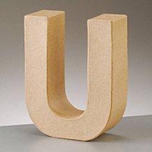 Polotovary - Papierové písmeno U - 8465559_