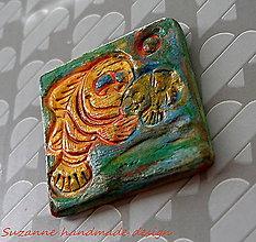 Drobnosti - keramická magnetka morská rybka - 8464743_