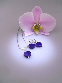 Sady šperkov - lapis lazuli náušnice prívesok v striebre Ag925/1000 - 8466070_