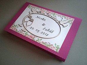 Darčekové poukážky - Svadobné prianie + priestor na peniažky - 8467030_