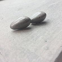 Náušnice - Betónky Drops gray - 8465858_