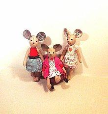 Hračky - Tri sestry - myšky - 8464454_