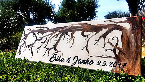 9e8166a69 Svadobný strom- Kniha hostí / cedulkovo - SAShE.sk - Handmade Obrazy