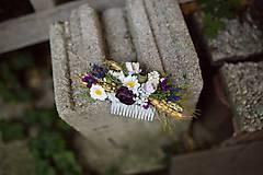 Ozdoby do vlasov - Kvetinový hrebienok... na želanie - 8467279_