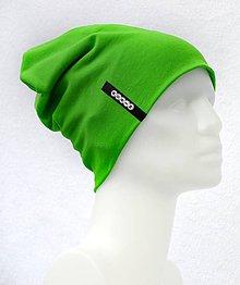 Detské čiapky - Čiapka Elastic zelená s menom - 8466380_