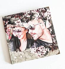 Papiernictvo - Svadobná kniha hostí / fotoalbum s grafikou na želanie - 8464435_