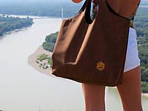 Veľké tašky - Big bag - Camel - perforated leatherette - 8466562_