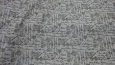 Textil - Písmo bavlna š.140cm - 8465574_