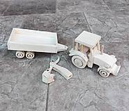 Hračky - Traktor s vlečkou a lyžicou - 8466783_
