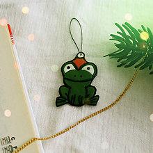 Dekorácie - ★ Vianočná ozdoba cartoon - žabka - 8465766_
