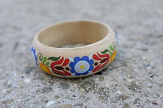 Náramky - DREVENÝ NÁRAMOK (pestrofarebné kvety) - 8468333_