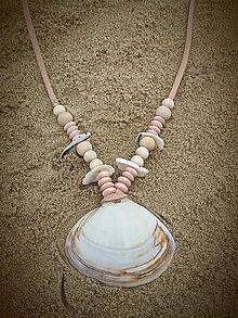 Náhrdelníky - Mušličkový náhrdelník - 8468511_