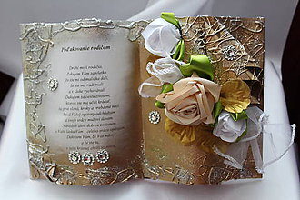 """Papiernictvo - Svadobná kniha """"Poďakovanie rodičom"""" - 8469394_"""