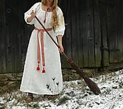 Šaty - Ľanové šaty Blahomila - 8469656_