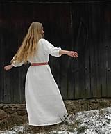 Šaty - Ľanové šaty Blahomila - 8469657_