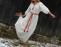 Šaty - Ľanové šaty Blahomila - 8469658_