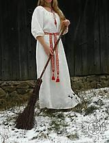Šaty - Ľanové šaty Blahomila - 8469659_