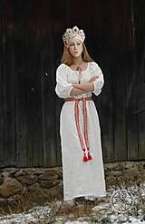 Šaty - Ľanové šaty Blahomila - 8469660_