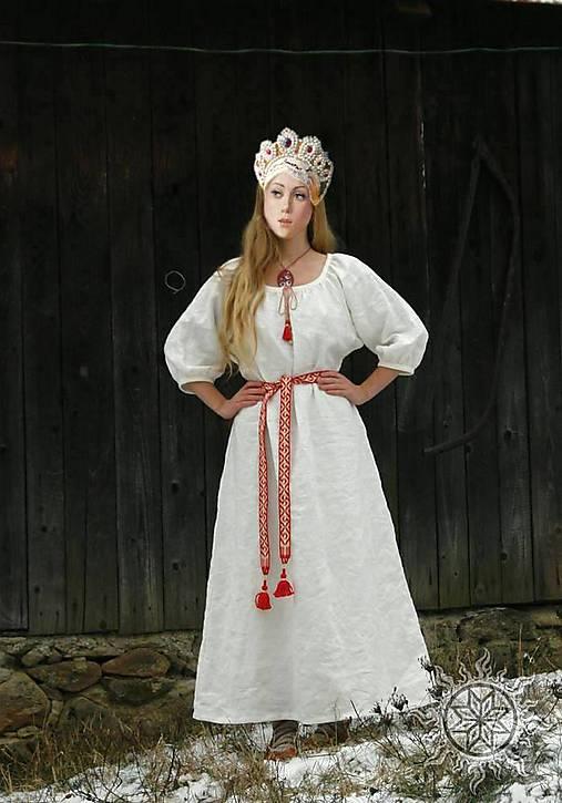 Ľanové šaty Blahomila