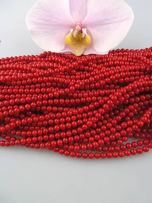 červený koral korálky 5mm A kvalita