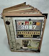 Papiernictvo - Dovolenkový steampunk fotoalbum pre cestovateľov - veľký, luxusný - 8467950_
