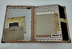 Papiernictvo - Dovolenkový steampunk fotoalbum pre cestovateľov - veľký, luxusný - 8467951_