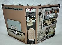Papiernictvo - Dovolenkový steampunk fotoalbum pre cestovateľov - veľký, luxusný - 8467952_