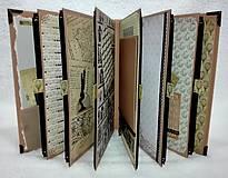 Papiernictvo - Dovolenkový steampunk fotoalbum pre cestovateľov - veľký, luxusný - 8467953_