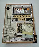 Papiernictvo - Dovolenkový steampunk fotoalbum pre cestovateľov - veľký, luxusný - 8467955_