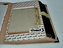 Papiernictvo - Dovolenkový steampunk fotoalbum pre cestovateľov - veľký, luxusný - 8467958_