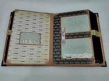 Papiernictvo - Dovolenkový steampunk fotoalbum pre cestovateľov - veľký, luxusný - 8467959_